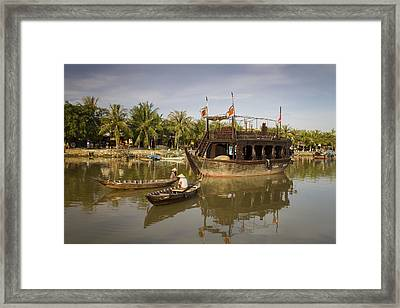 Hoi An River Boats Framed Print