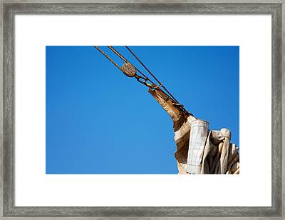 Hoist The Sails. Framed Print