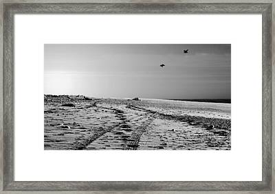 Hokitika Beach Framed Print