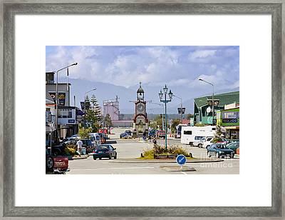 Hokitika Street Scene West Coast New Zealand Framed Print