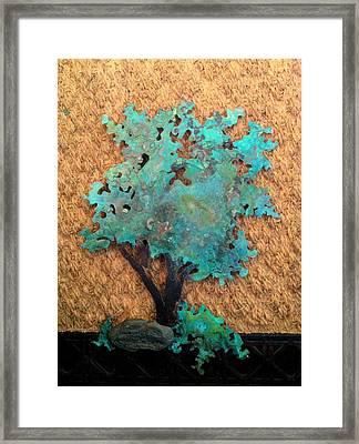 Hokkidachi Copper Bonsai Framed Print by Vanessa Williams