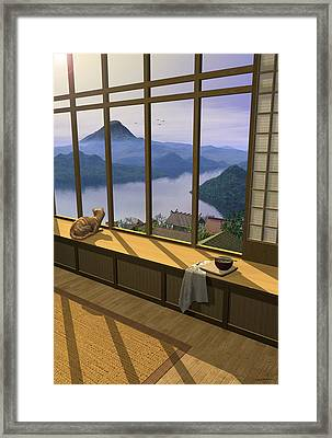 Hokusai Framed Print by Cynthia Decker