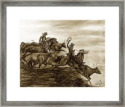 Hol-ly Cow Framed Print