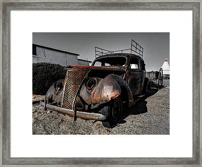 Holbrook Az - Wigwam Motel 003 Framed Print by Lance Vaughn