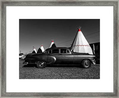 Holbrook Az - Wigwam Motel 004 Framed Print by Lance Vaughn