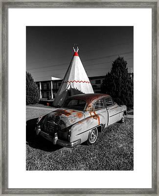 Holbrook Az - Wigwam Motel 007 Framed Print by Lance Vaughn