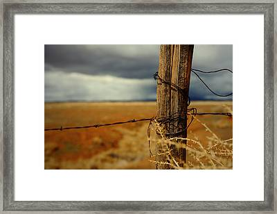 Hold Back The Storm Framed Print