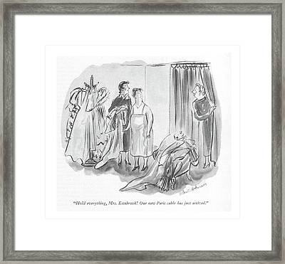 Hold Everything Framed Print