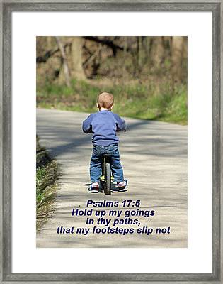 Hold Me Up Lord Framed Print