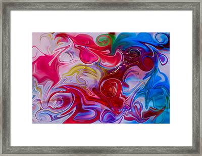 Hold My Love In The Palm Of Your Hand Framed Print by Omaste Witkowski