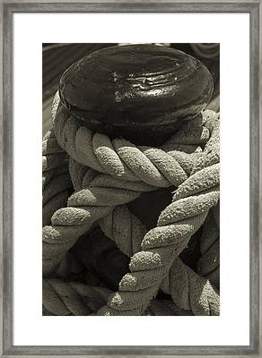 Hold On Black And White Sepia Framed Print