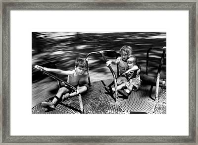 Hold On Tight Framed Print by Retro Images Archive
