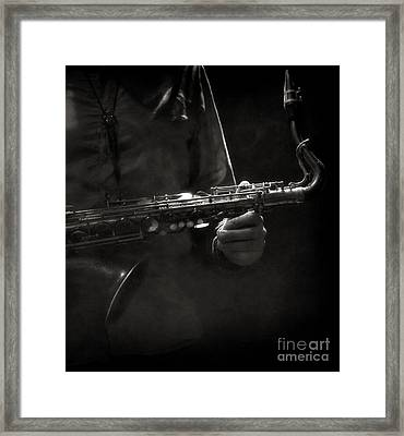 Hold On To Your Sax Framed Print by Michel Verhoef