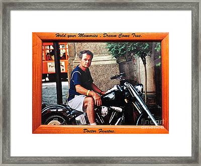 Hold Your Memories   Dream Come True Opportunity.                 Days Gone By Good Goin           Framed Print by  Andrzej Goszcz