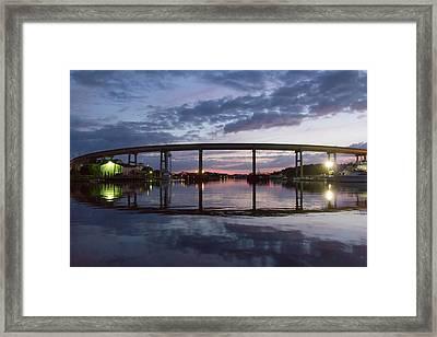 Holden Beach Bridge After Sunset 2 Framed Print