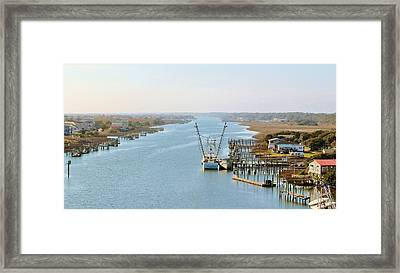 Holden Beach In Nc Framed Print