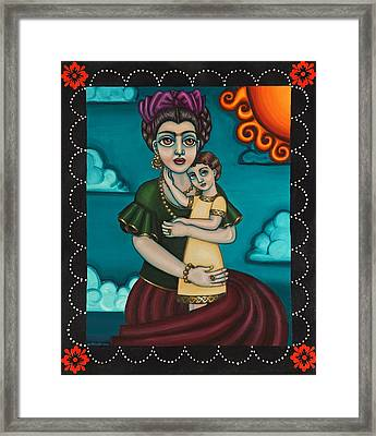 Holding Diegito Framed Print by Victoria De Almeida