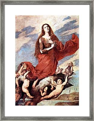 Holding Mary Framed Print by Munir Alawi
