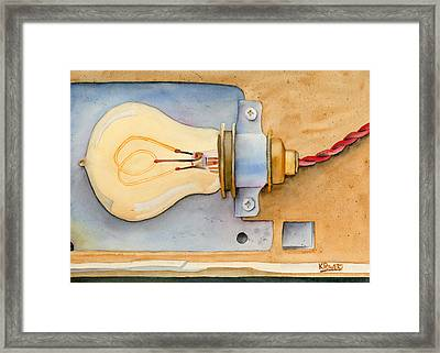 Holding On To An Idea Revisited Framed Print by Ken Powers