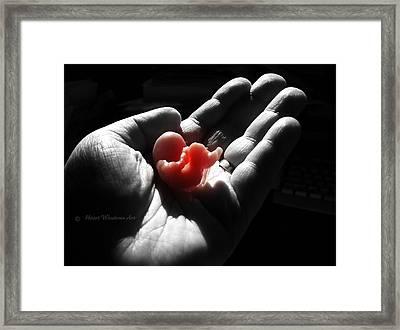 Holding On To Life Framed Print