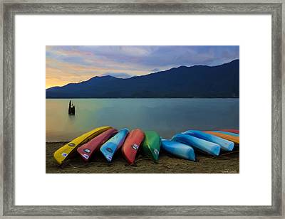 Holding On To Summer Framed Print