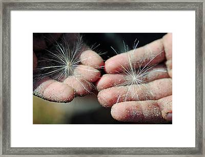 Holding The Future Framed Print