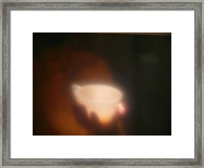 Framed Print featuring the photograph Holding The Light by Evelyn Tambour