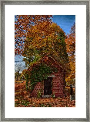 Framed Print featuring the photograph Holding Up The  Fall Colors by Jeff Folger
