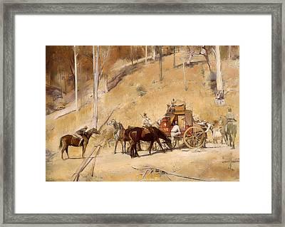 Holdup  Framed Print by Mountain Dreams