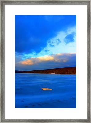 Hole And Sky Framed Print by David  Jones