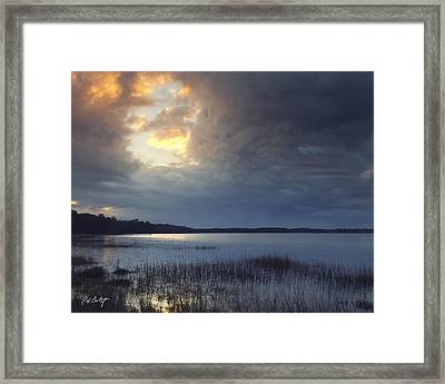 Hole In The Clouds Framed Print by Phill Doherty