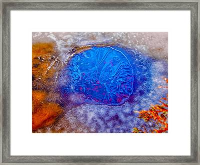Hole In The Ice Framed Print by Louis Dallara