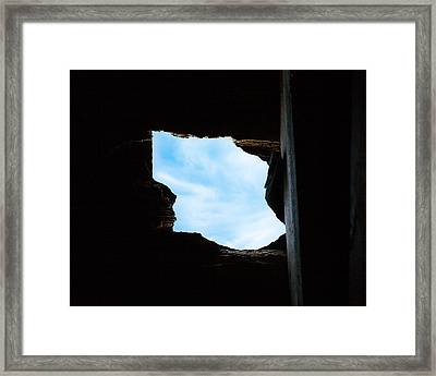 Hole In The Roof  Framed Print