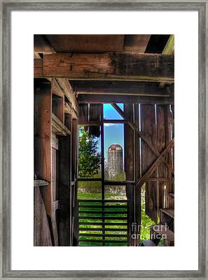 Hole In The Wall 2 Farm Art Framed Print