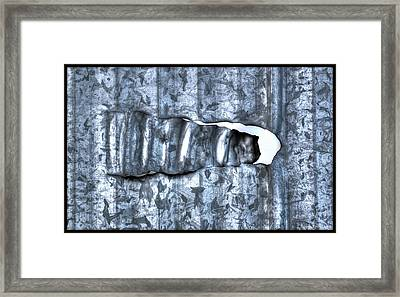Hole In Wall Framed Print