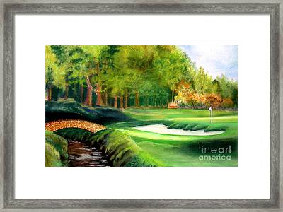 Hole Number10 Framed Print