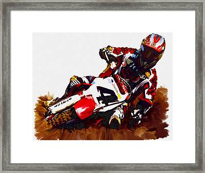 Hole Shot Ricky Carmichael Framed Print by Iconic Images Art Gallery David Pucciarelli