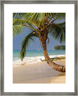 Holetown Beach Framed Print by Sophie Vigneault