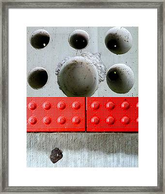 Holey Optical Framed Print by Marlene Burns