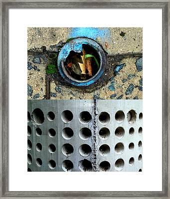 Holey Optical Three Framed Print by Marlene Burns