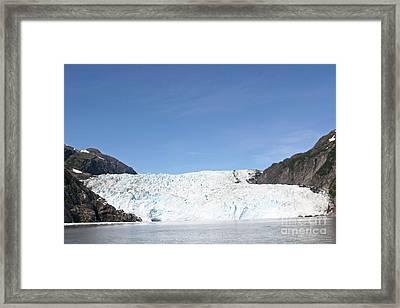 Holgate Glacier Framed Print by Russell Christie