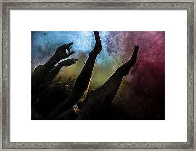 Holi  Festival Of Colours Framed Print