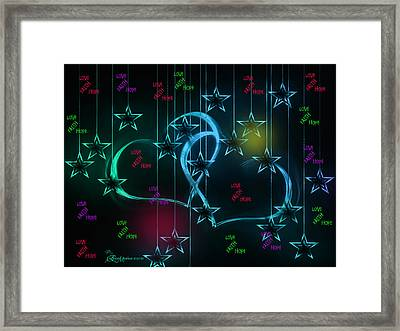 Holiday 2-featured In 'visions Of The Night And The Christian Connection' Framed Print by EricaMaxine  Price