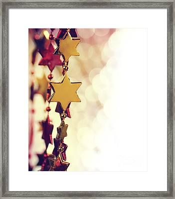 Holiday Background Framed Print