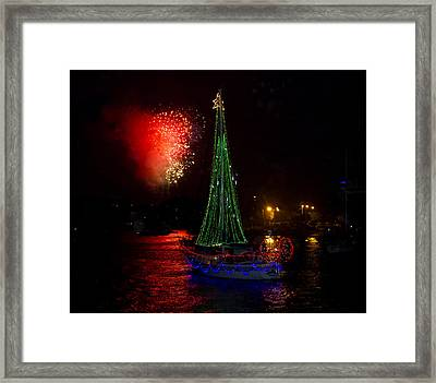 Holiday Boat Parade Framed Print