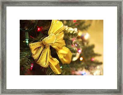 Holiday Bow Framed Print by Thanh Tran
