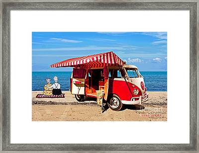 Holiday By The Seaside Framed Print