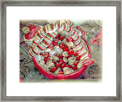 Holiday Candy Framed Print by Kathleen Struckle