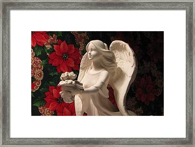 Holiday Childrens  Angel  Framed Print by Judyann Matthews