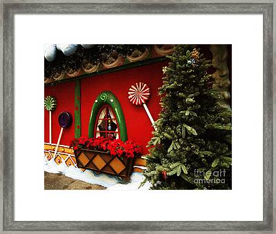Holiday Cottage Framed Print by Anne Rodkin